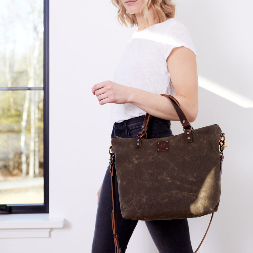 Red House Red House Crossbody Day Bag - Waxed Canvas