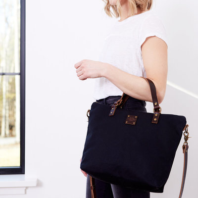 Red House Crossbody Day Bag - Waxed Canvas
