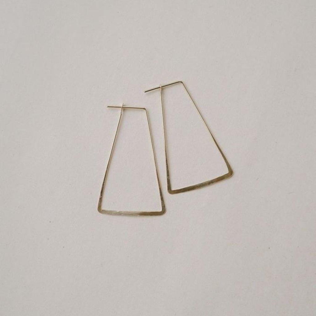 Slate Seam Hoop Earrings