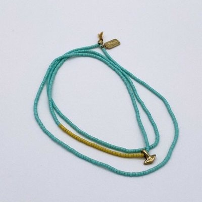 "Slate Petite Anchor Necklace 28"""