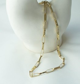 Slate Paper Chain Necklace