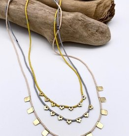 Slate Lucky Loop Necklace