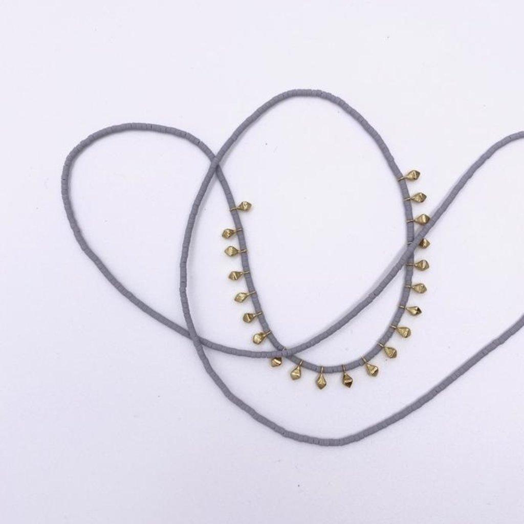 Slate Small Rain Necklace