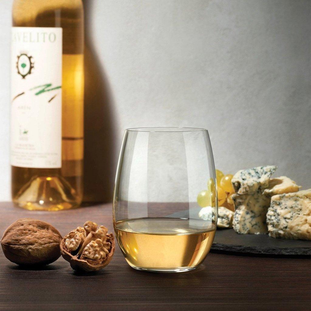 Slate Stemless White Wine Glass