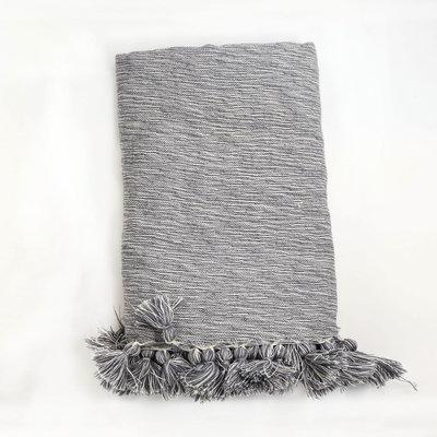 Slate Lightweight Grey Wool Throw