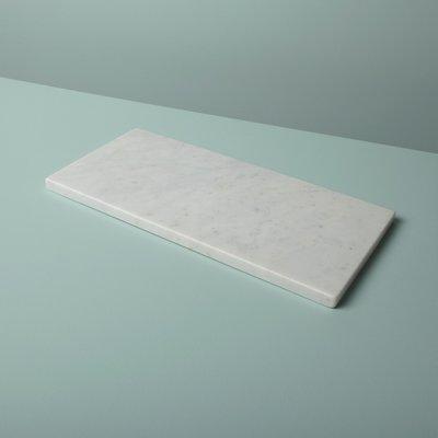 Slate White Marble Rectangular Board