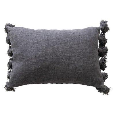 Midnight Tassel Lumbar Pillow