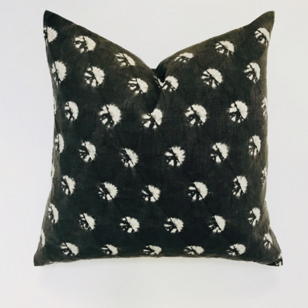 Shibori Dandelion Pillow