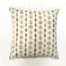Shibori Dot Grey Pillow