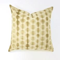 Shibori Dot Yellow Pillow