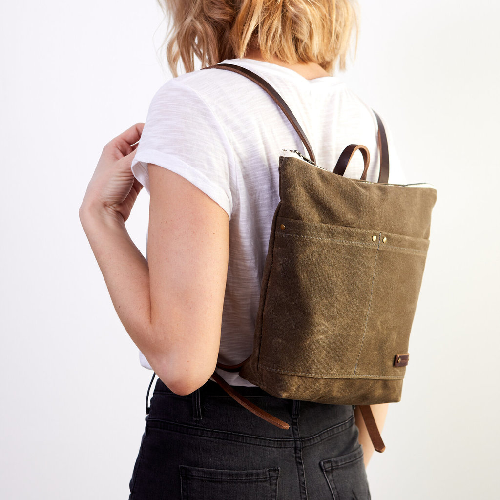 Red House Red House Mini Day Pack - Waxed Canvas