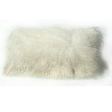 Ivory Longwool Lumbar Pillow