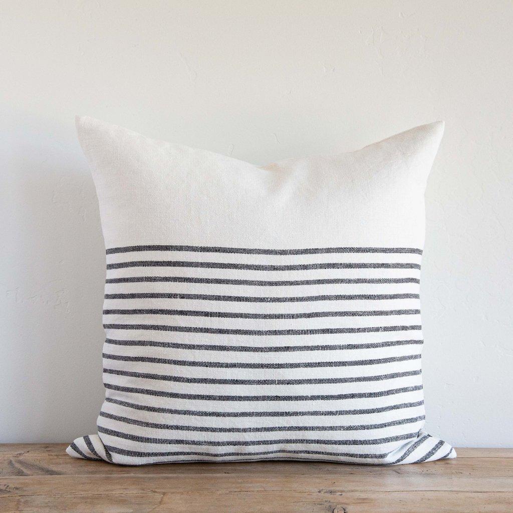 "Three Quarter Stripe 22"" Pillow"