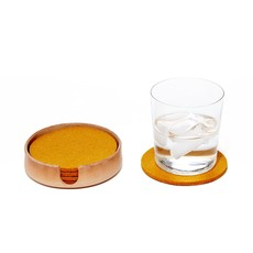 Graf Lantz Small Leather Tray/Coaster Holder