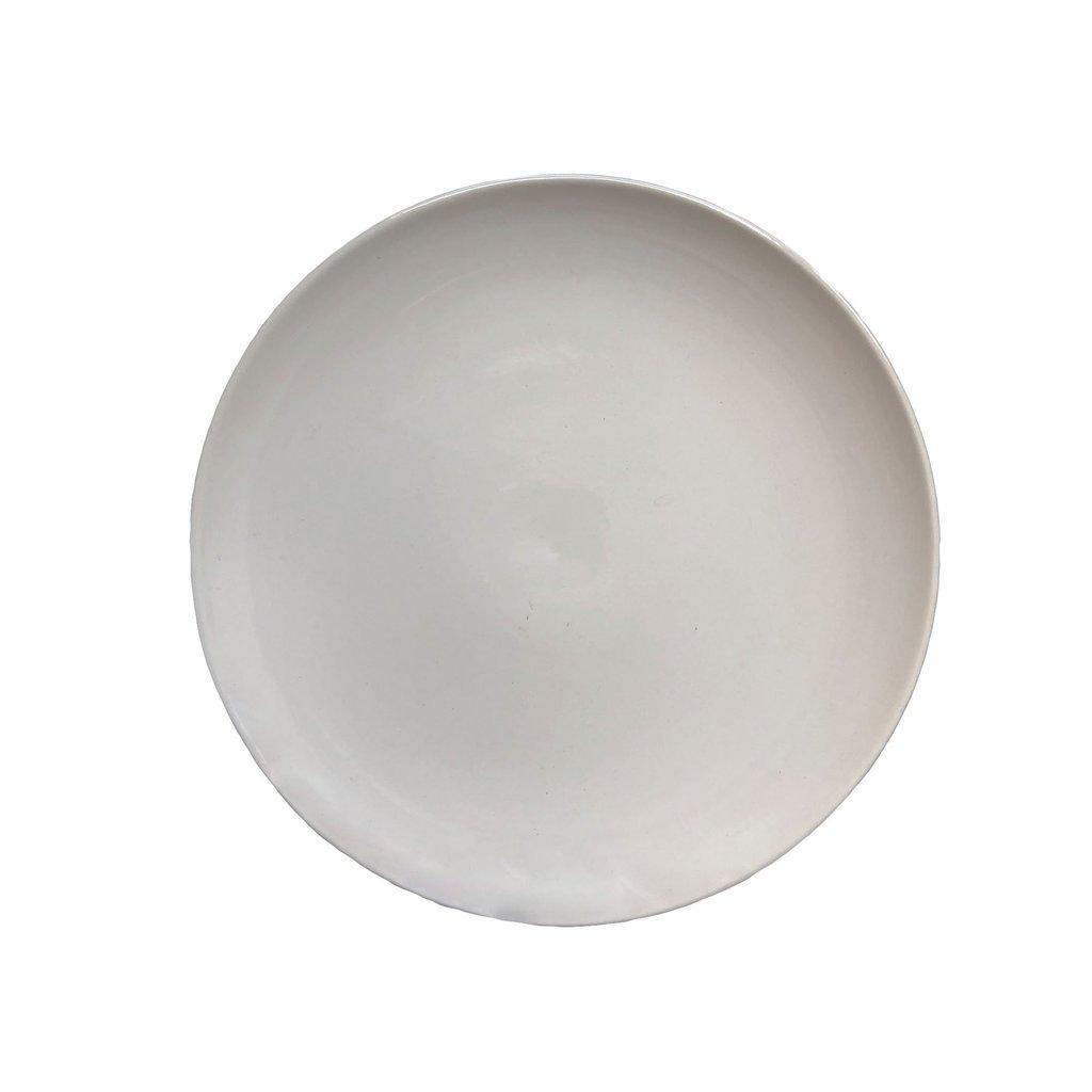 White Glaze 4 Piece Place Setting