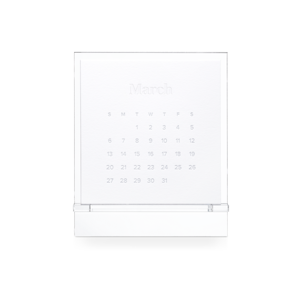 Appointed Appointed 2022 Acrylic Desk Calendar