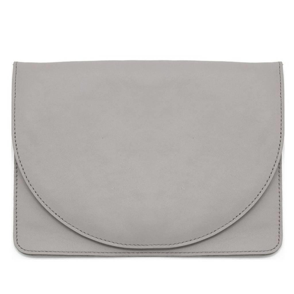 Minor History Leather Half-Moon Clutch
