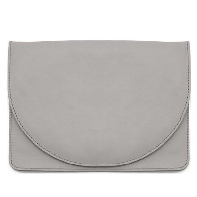 Leather Half-Moon Clutch