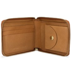 Minor History Leather Zip-Around Wallet