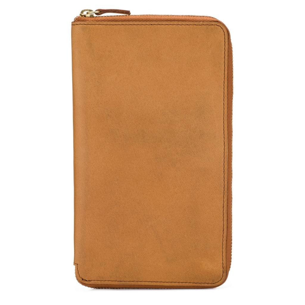 Large Leather Zip-Around Wallet