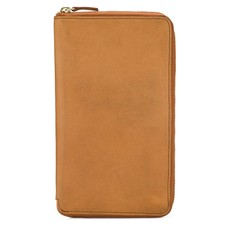Minor History Large Leather Zip-Around Wallet