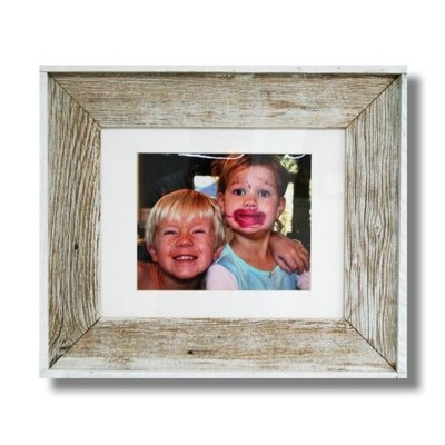 Beach Frames White Washed Reclaimed Wood Frame
