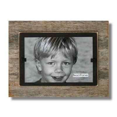 Beach Frames Reclaimed Wood Frame with Black Backboard