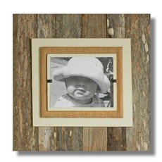 Beach Frames Reclaimed Wood with Colored and Burlap Backboards 22 x 22