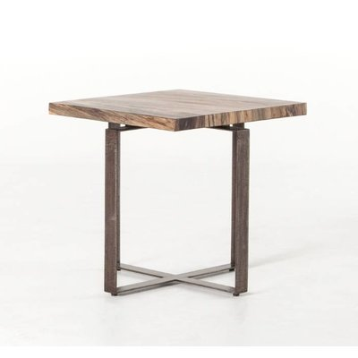 Slate Primavera Wood Side Table