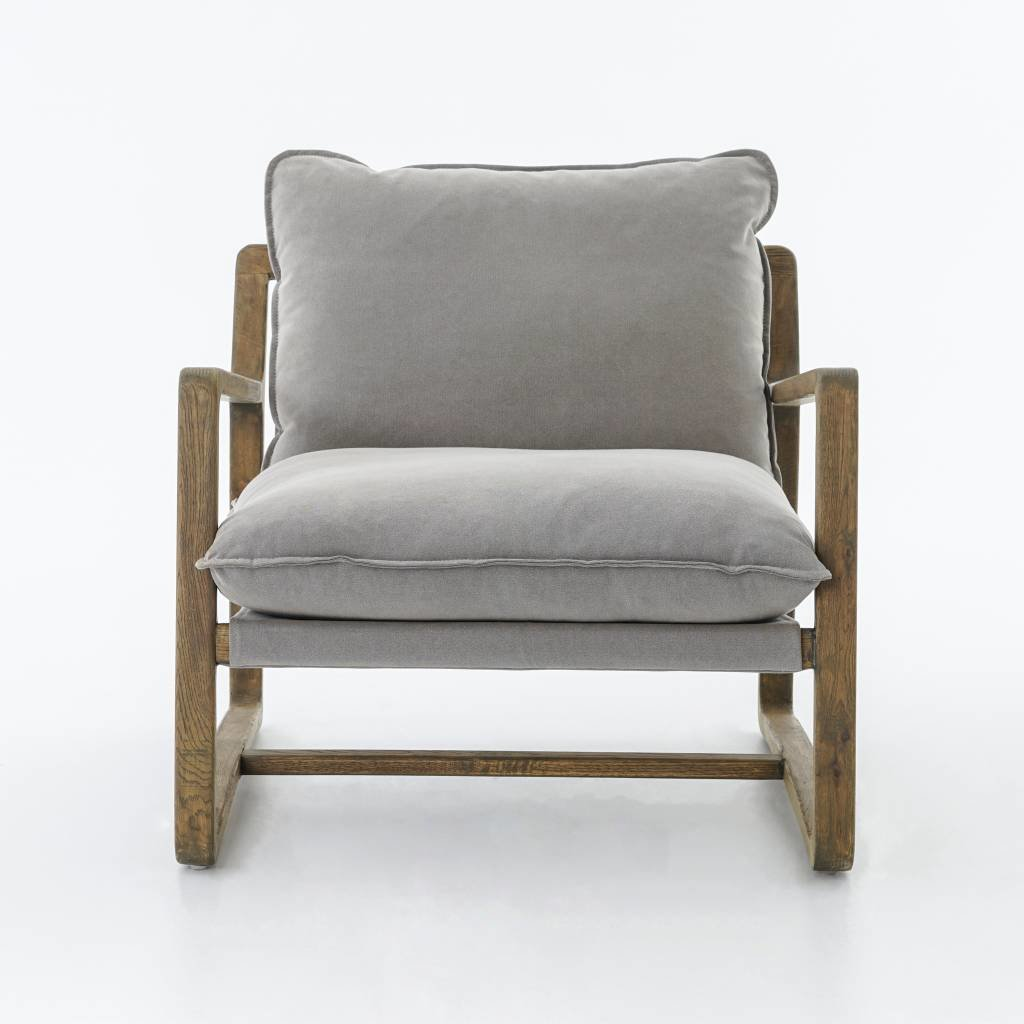 Slate Oak-Framed Chair in Pewter