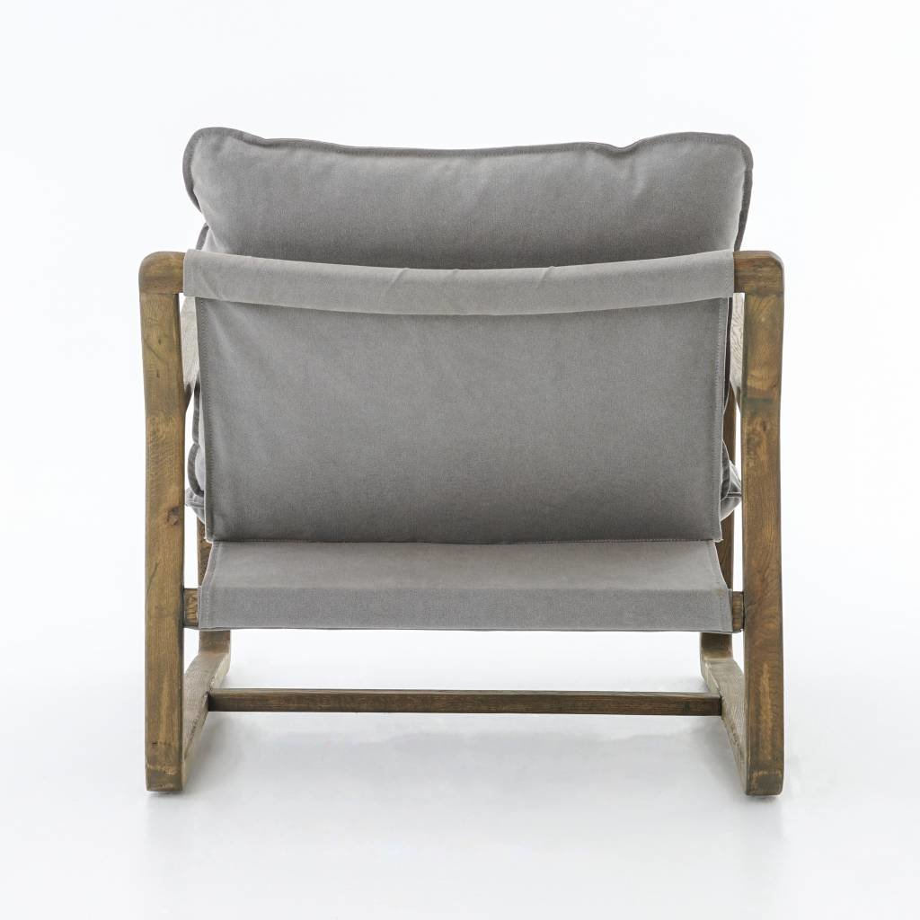 Oak-Framed Chair in Pewter