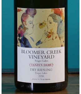 Bloomer Creek Vineyard, Finger Lakes Dry Riesling Tanzen Dame Auten 2016
