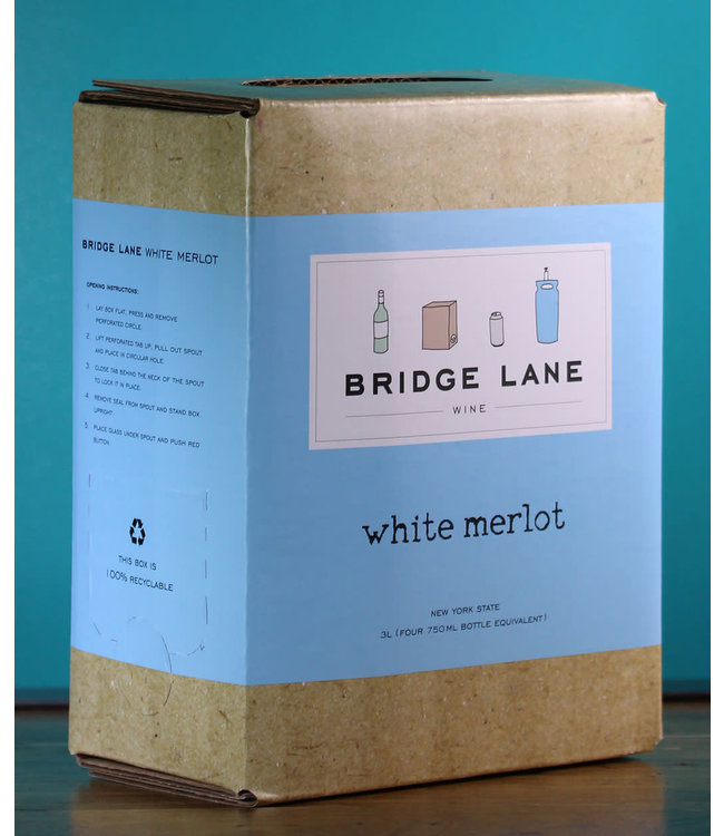 Bridge Lane, White Merlot (NV) 3L bag in box