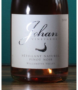 Johan Vineyards, Pinot Noir Pétillant Naturel Rosé Willamette Valley 2018