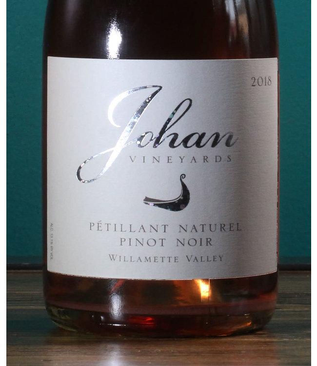 Johan Vineyards, Pinot Noir Pétillant Naturel Rosé Willamette Valley 2018