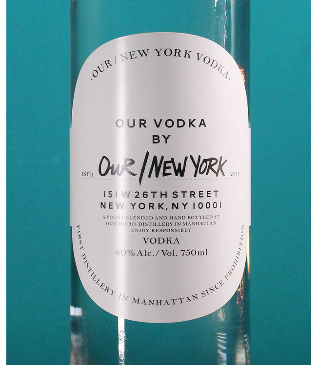Our New York Vodka (750ml)