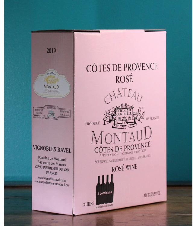 Château Montaud, Côtes de Provence Rosé 2019 (3L Bag in Box)