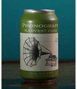 Phonograph, Harvest Cider Un-Sweet (12 oz can)