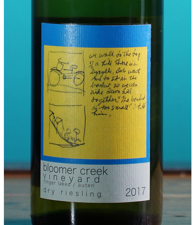 Bloomer Creek Vineyard, Finger Lakes Dry Riesling Tanzen Dame Auten 2017