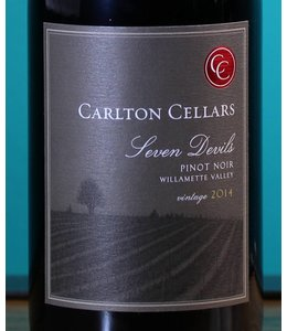 Carlton Cellars, Willamette Valley Pinot Noir Seven Devils 2014