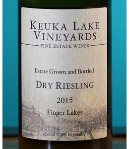 Keuka Lake Vineyards, Finger Lakes Dry Riesling Estate 2015