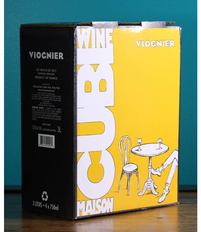 Les Vignerons d'Alignan du Vent Maison Cubi, Neffies, Viognier 2017 (3L box)