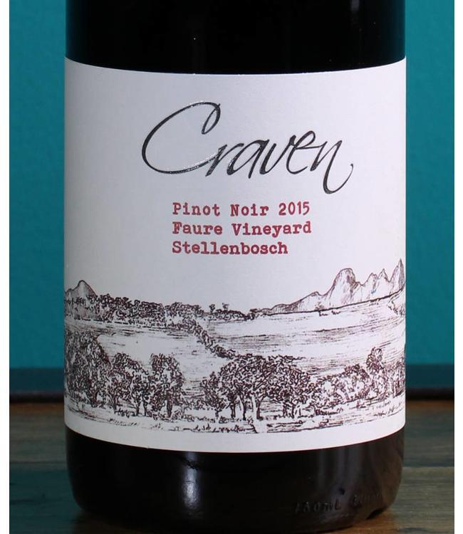 Craven Wines, Stellenbosch Pinot Noir Faure Vineyard 2017