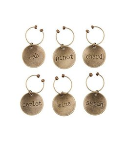 Varietal metal wine charms
