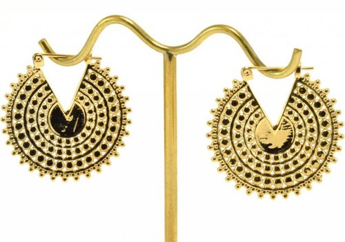 Tawapa Small Afghan Disc in Yellow Gold