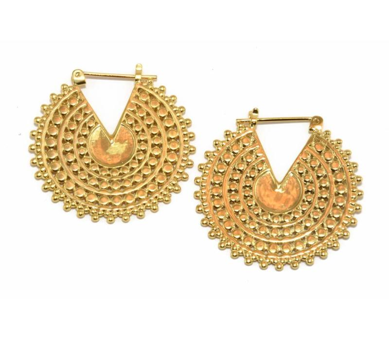 Small Afghan Disc in Yellow Gold
