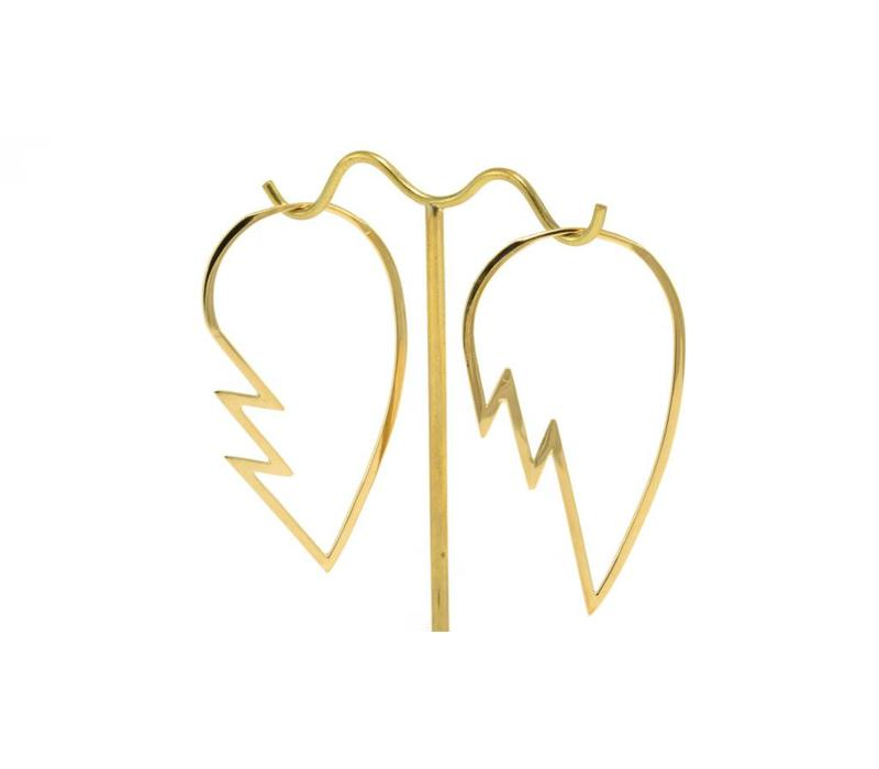 Broken Heart in Yellow Gold