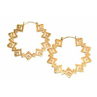 Sunflower Hoop in Yellow Gold