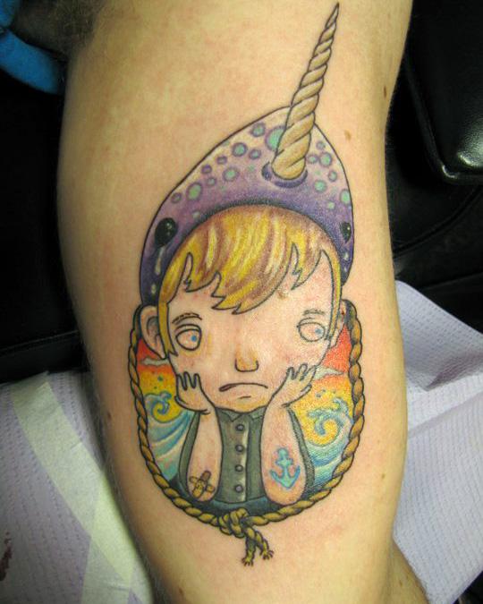 Narwhal tattoo