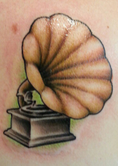 Phonograph tattoo